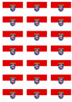 Hesse Flag Stickers - 21 per sheet